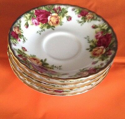 4 royal Albert  old country rose  Tea Saucer  Plates 1962