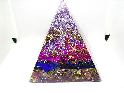 POSITIVE ORGONE Energy Giza Pyramid plus Pendant 9 Synergy Stones