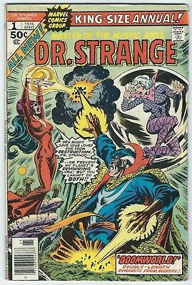 Dr. Strange King Size Annual 1  1976  Very Good- great reader w/free shipping