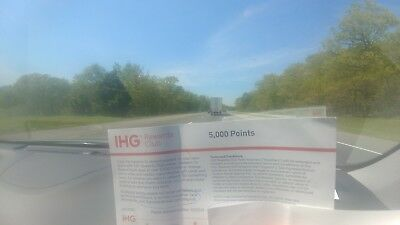 IHG Holiday Inn coupon for 5,000 points, enough for 1 night stay