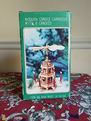 Vintage Wooden Candle Carousel