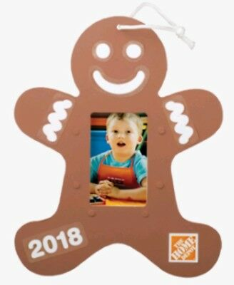 Home Depot Kids Workshop Gingerbread Man Ornament with Pin