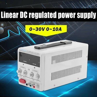 Adjustable 30V-10A DC Power Supply High Precision LED Digital Display FG