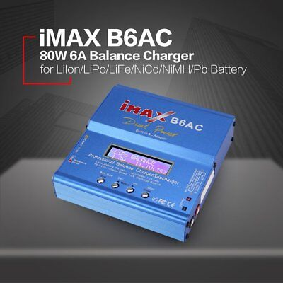 iMAX B6AC 80W AC/DC Lipo NiMh Battery Balance Charger Discharger for RC Model BC