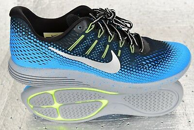 New Nike Lunarglide 8 Shield H2O REPEL Blue Glow Stealth Sz 11.5 849568-004   135 7a4c41044
