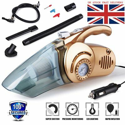 Mini 4 in 1 Car Vacuum Cleaner Handheld Car Inflatable Pump Air Compressor RKJP