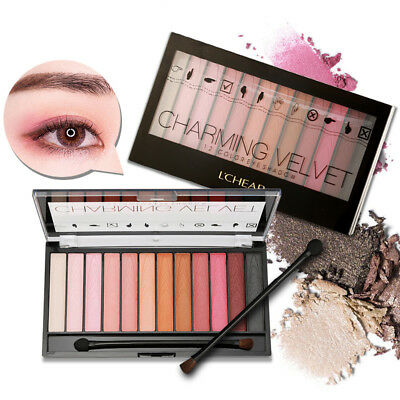New Fashion Profesional Eyeshadow Make Up Eye Set Palette Cosmetic Brush Gift