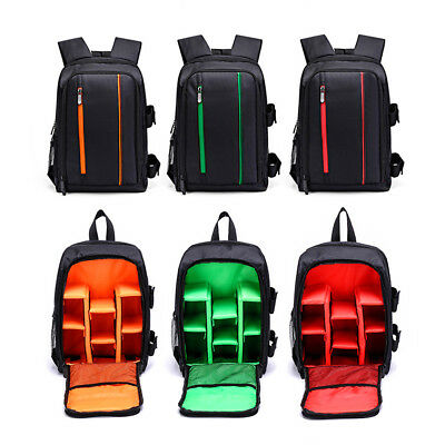 Large DSLR Camera Backpack Durable Waterproof Shoulder Bag Case For Canon Nikon
