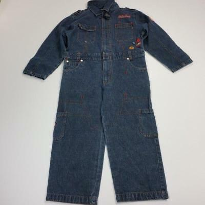 French Toast Boy Rare Jeans Overall  Size 6/7 Years Blue