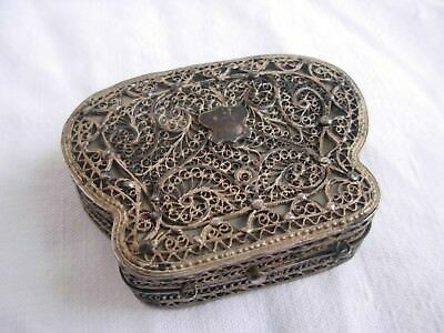 Antique Russian Sterling Silver Filigree Purse,hallmarked,xix Century.