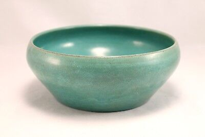 South Dakota Pine Ridge Sioux Pottery Turquoise Bowl E. Irving