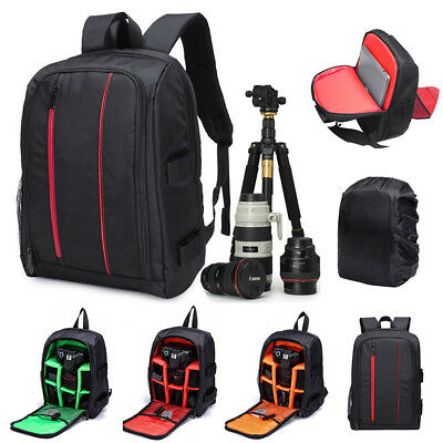 Extra Large Waterproof DSLR Camera Backpack Travel Bag Case for Canon Rain Cover