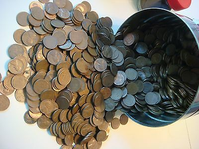 1 Roll of 1909-1958 Wheat Pennies - 50 Penny Cent a nice mixture  Coins  #1007