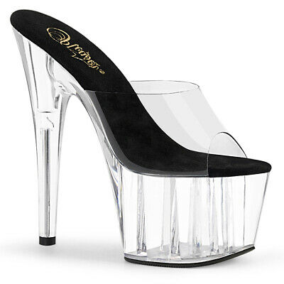 uk store new appearance exclusive range BLACK CLEAR PLATFORM Mens Drag Queen Crossdresser High Heels ...