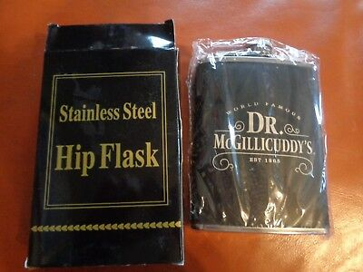 Dr Mcgillicuddy's 8 Oz Flask New In Gift Box! Cool! Doctor Dr. Mcgillicuddys