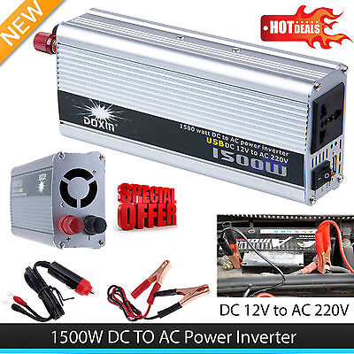1500W Car DC 12V to AC 220V Power Inverter Charger Converter for Electronic PB