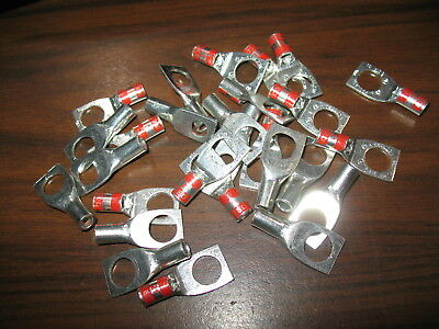 "Lot of 27 Thomas & Betts 3LL56 Compression Lugs (#4 CU, 3/8"" Stud, Short Barrel)"