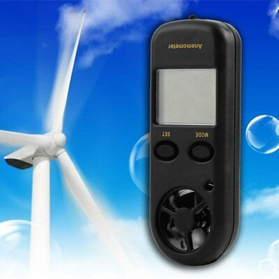 Mini Digital LCD Display Wind Speed Gauge Scale Anemometer Thermometer&#