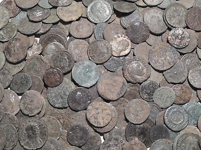 10 TOP Quality Uncleaned Roman coins