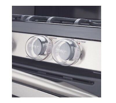 Safety 1st Clear View Stove Knob Covers Easy to Install Pack of 5
