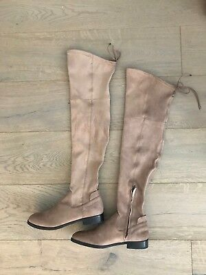 86e9ff1f439 DOLCE VITA NEELY Taupe Beige Microsuede Over The Knee OTK Boots US ...
