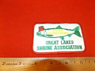 VTG Masons FISHING PATCH G.L.S.A. Salmon Derby GREAT LAKES SHRINE ASSOC SHRINERS