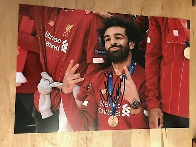 2018/19 LIVERPOOL MOHAMED SALAH 12x8 photo AUTOGRAPHED SIGNED 1