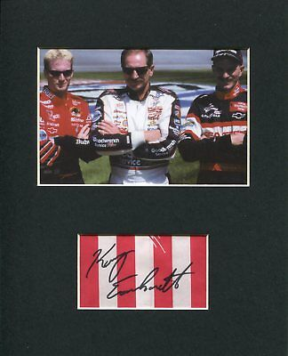 Kerry Earnhardt NASCAR Driver Signed Autograph Photo Display With Dale & Dale Jr