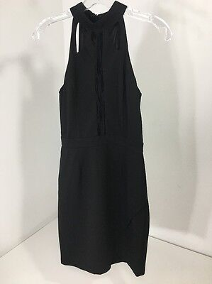 16d3d4c4b01 Women s MISSGUIDED Lace Up Front Bodycon Sleeveless Dress Black US 6 NWT