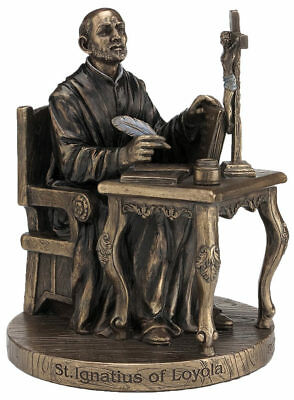 St. Ignatius-Loyola Statue  Cold Cast Bronze, Lightly Hand-Painted 6.5 inches