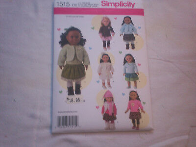 Simplicity Sewing Pattern #1515 - 18  inch Doll clothes