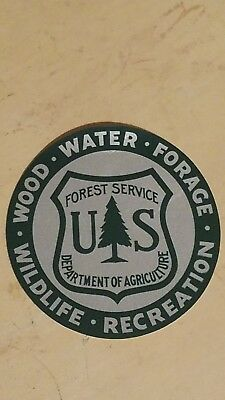 Vintage US Forest Service Department of Agriculture wood-water Sticker Decal