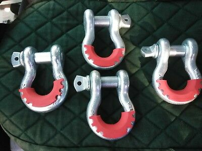 """3/4"""" Load Rated 4 3/4 T Anchor Shackle Recovery D Ring JEEP OFF ROAD 4x4 Towing"""
