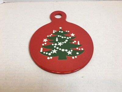 Waechtersbach Germany Red Christmas Tree Tray Cheese Cracker Board Holiday 10""