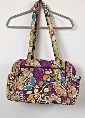 Vera Bradley Stroll Quilted Large Diaper Bag and Changing Pad - Purple