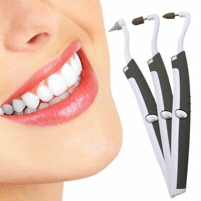 LED Sonic Vibrating Electric Teeth Whitening Stains Eraser Tartar Removal uqFD