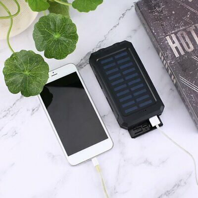 Portable Solar Battery Charger Solar Power Bank for Emergency with Compass V7☉