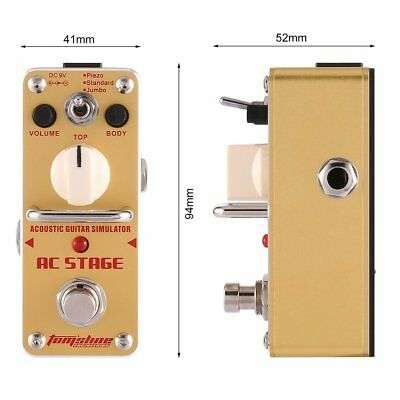 Aroma AAS-3 AC Stage Acoustic Guitar Simulator Electric Guitar Effect Pedal G0