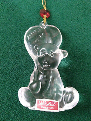"""Marquis by Waterford Crystal Ornament """"2008"""" Baby's 1st Christmas 146282  (OM34)"""