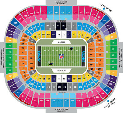 New Orleans Saints @ Carolina Panthers- 2 tickets- Sec 521 Row 31 Mon 12/17/18