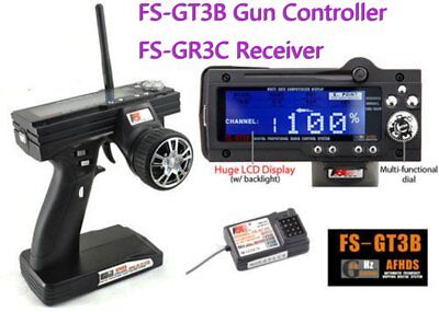 New FS-GT3B 2.4G 3CH Transmitter Receiver With Fail-Safe For RC car boat XMDR