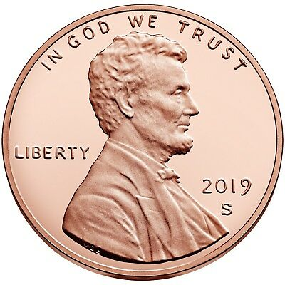 Roll Of 40-2019 S 1C Lincoln Proof Shield Cent Deep Cameo 40 Pristine Examples