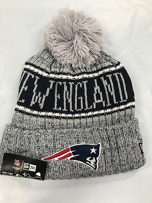 New Era NFL New England Patriots Cuffed Knit Beanie Cap w/ Pom PRIORITY SHIPPING