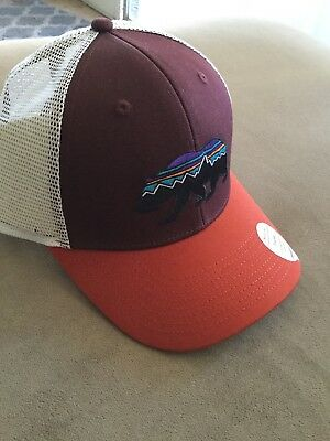 d6b4bded PATAGONIA | MENS Fitz Roy Bear Trucker Hat Red NEW - $26.00 | PicClick