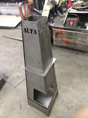 Alta Torch Portable Fire Pit Ring 48 Height 4 Panels Steel