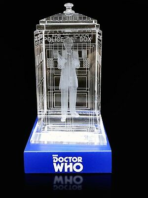 Doctor Who TARDIS Second Patrick Troughton Crystal Collectible BBC Licensed