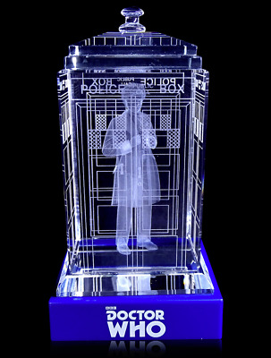 Doctor Who TARDIS Sixth Colin Baker Crystal Collectible BBC Licensed