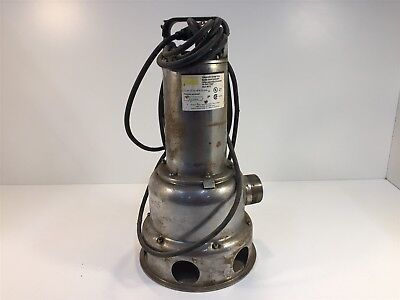 Dayton 4NY22 Stainless Steel Submersible Sewage Pump 1/2HP 230V 6.0A