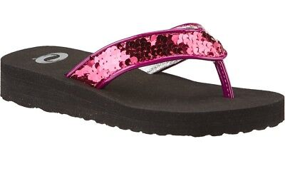 54f6207965e14 O Rageous Girls  Sequin Flip Flops Sandals Hot Pink Dance Bling Kids