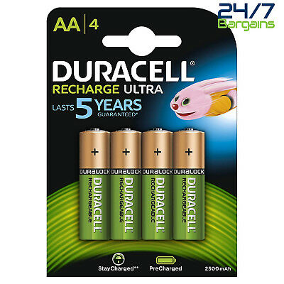 Duracell Ultra Rechargeable Aa Batteries 2500Mah - Pack Of 4